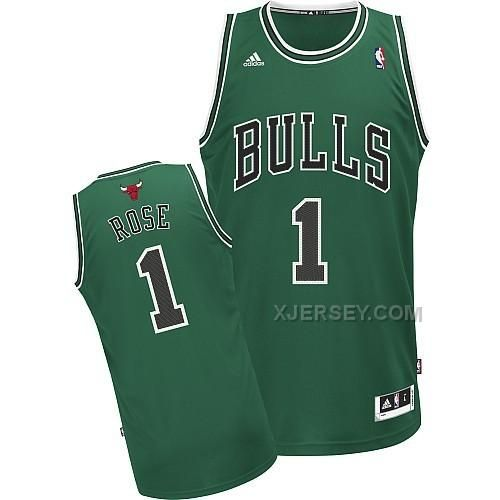 new concept d7392 03544 chicago bulls 1 derrick rose green swingman jersey