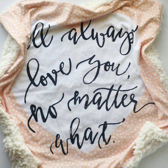 No Matter What Baby Blanket Minky Baby Blanket White Baby | Etsy