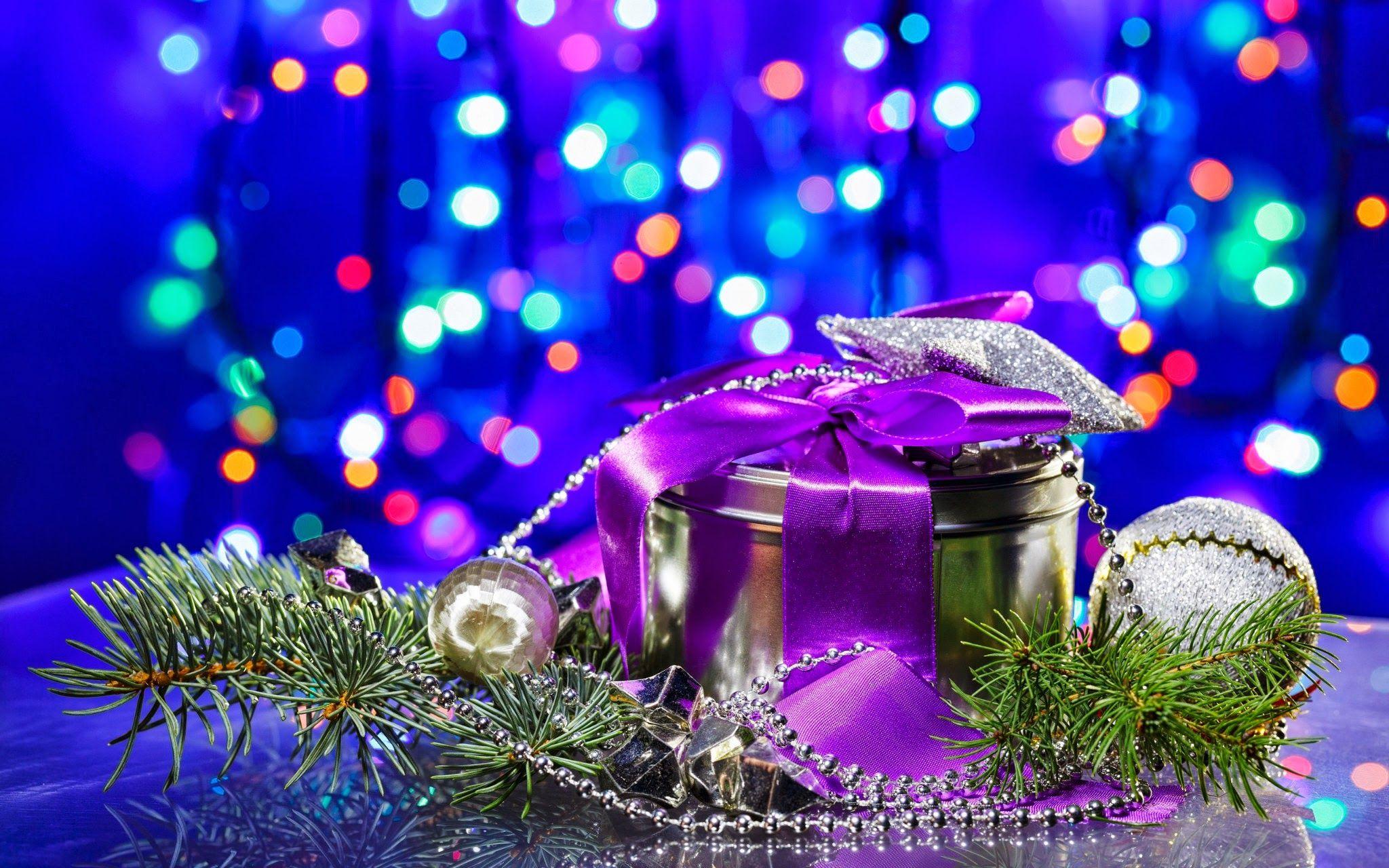 Gifts for new years hd desktop wallpaper widescreen - Purple christmas desktop wallpaper ...