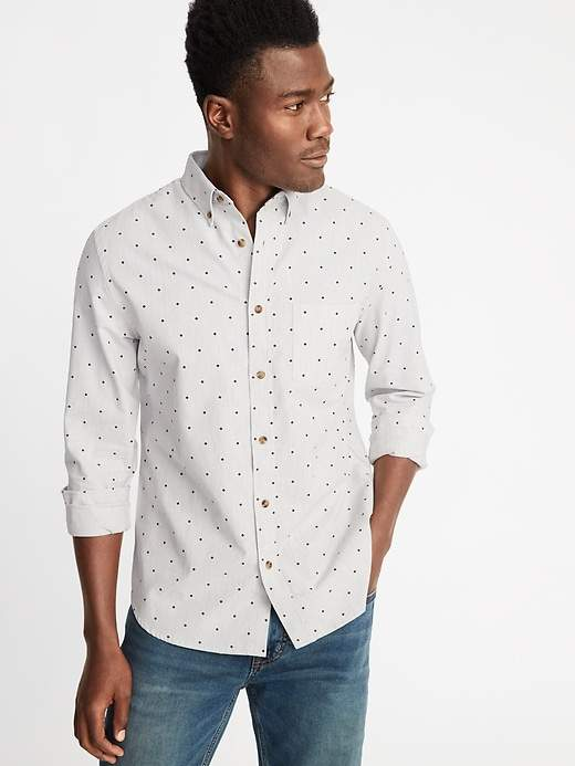 c1ce120a8b9 Old Navy Slim-Fit Built-In Flex Everyday Oxford Shirt For Men ...