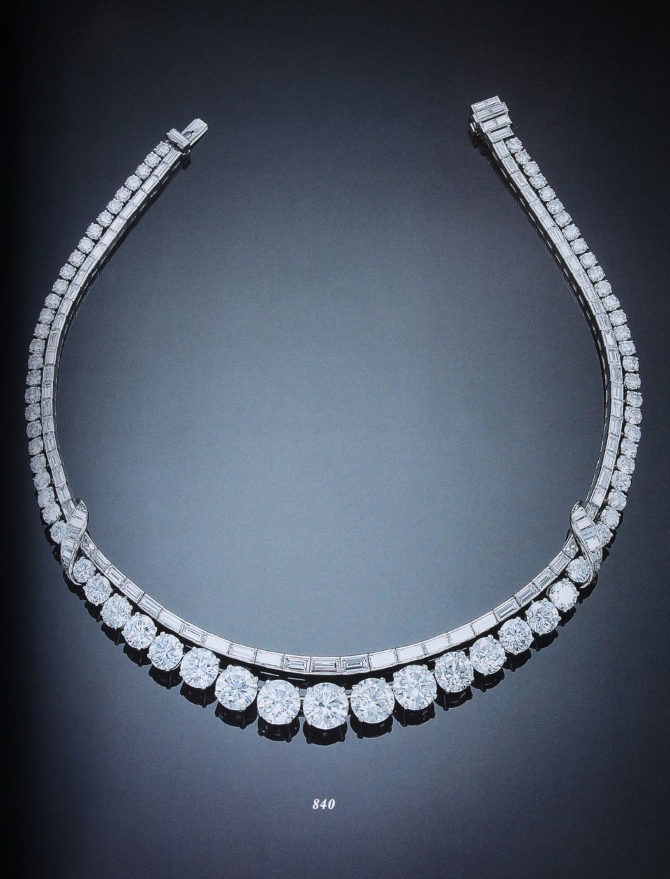 Diamond necklace thatus simple in design but waaaaay classy brown