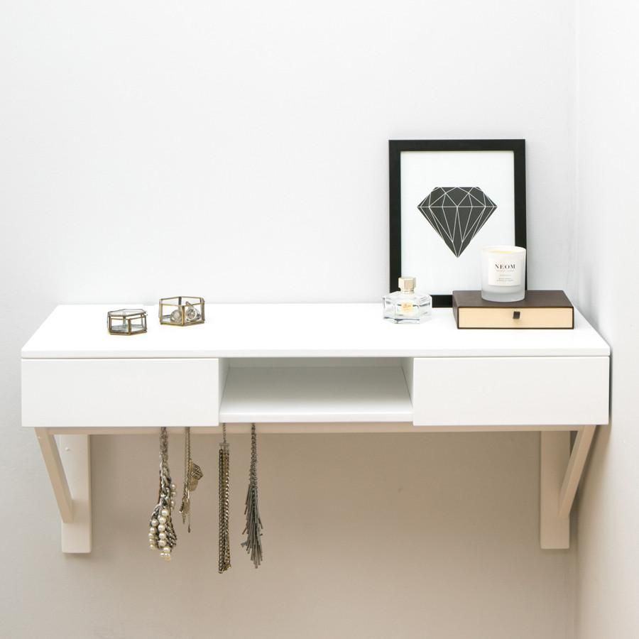 WHITE FLOATING DESK WITH DRAWERS Google Search (With