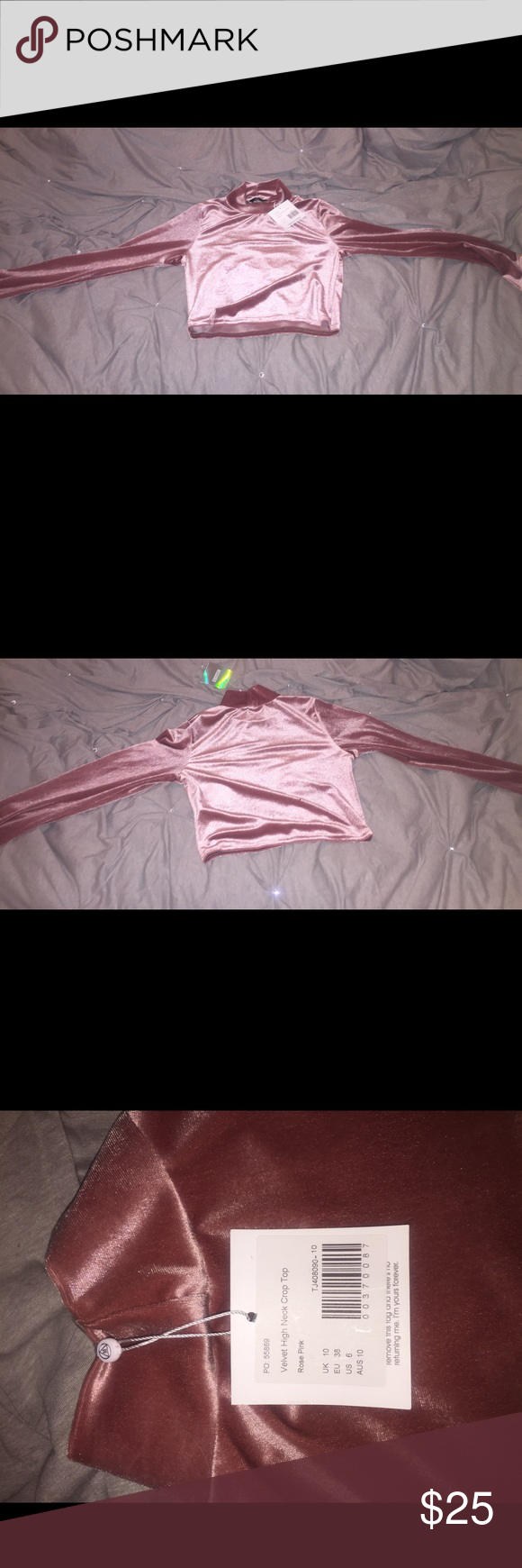 Pink Velvet Missguided shirt This is a pink velvet shirt from Missguided. It was bought in November and never worn Missguided Tops Blouses