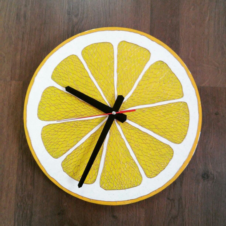Citrus Wall Clock Silent Modern clock Food clock Lime Lemon Orange ...