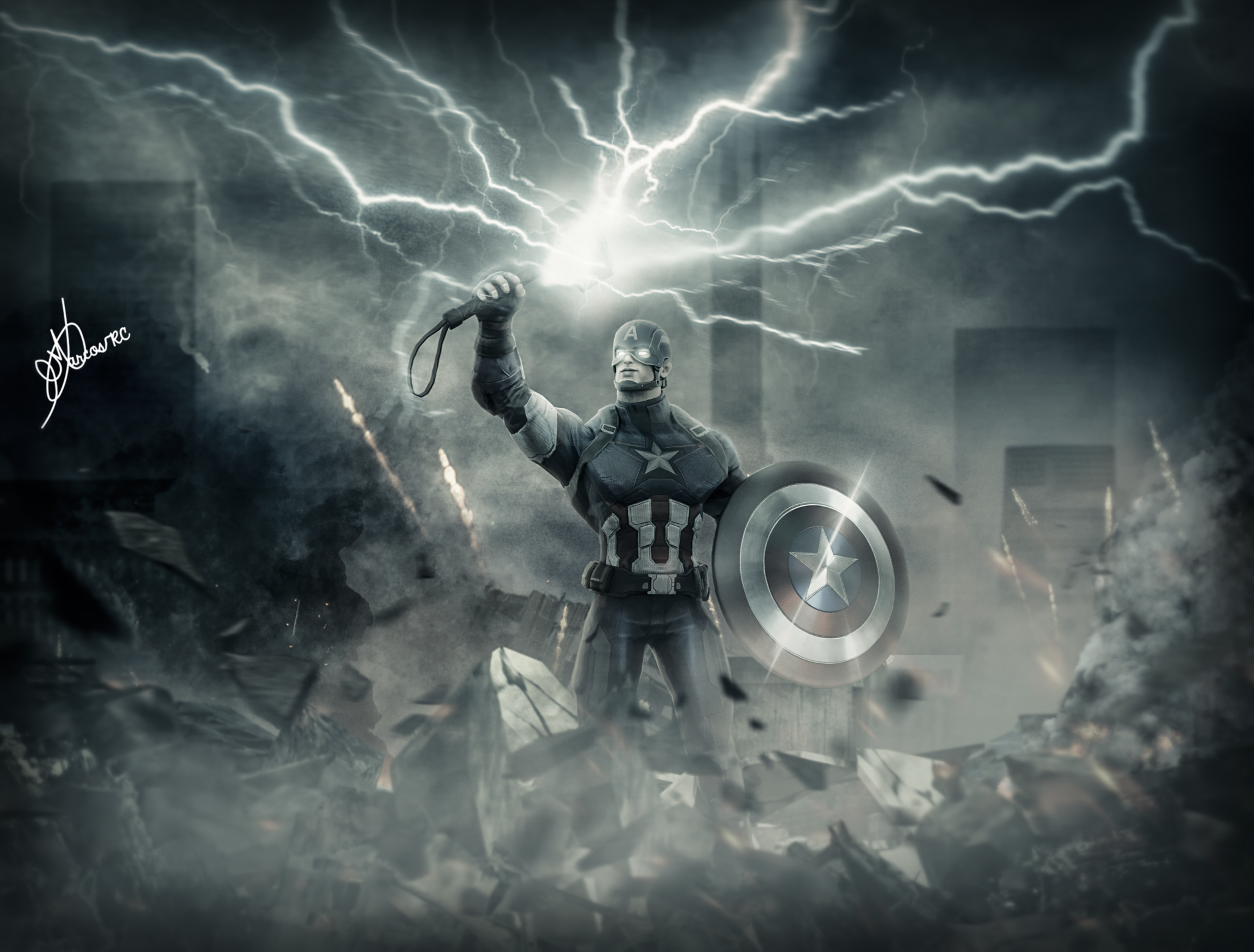 Captain America With Thor S Hammer Thors Hammer Captain America Thor