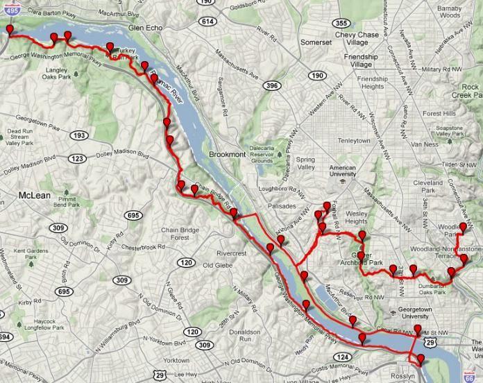 Potomac Heritage Trail Map Trail Maps