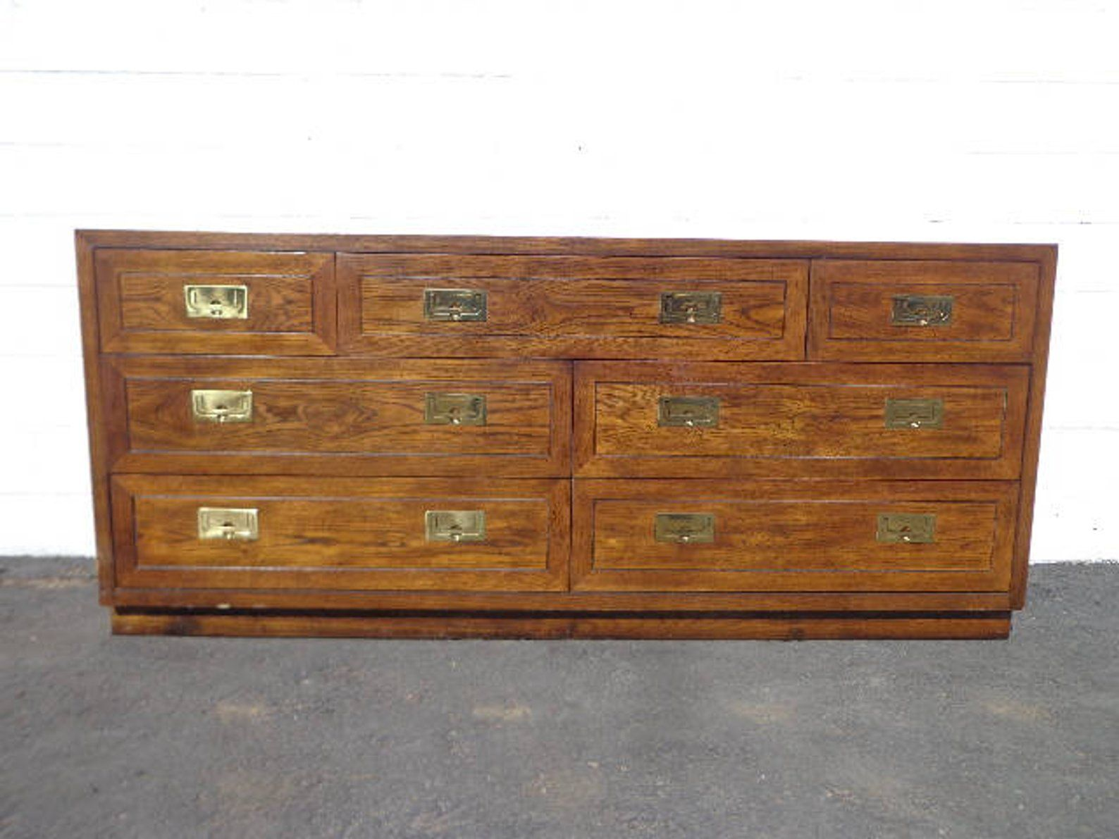 Henredon Campaign Dresser Chest Of Drawers Bureau Buffet Etsy Henredon Campaign Dresser Sideboard Media