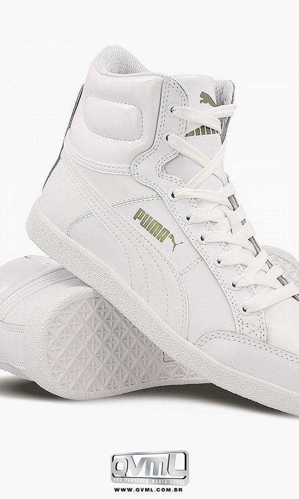 98e996cdf Chegou... tênis Puma IKaz Mid Classic Cano alto. Disponíveis nas cores  branco