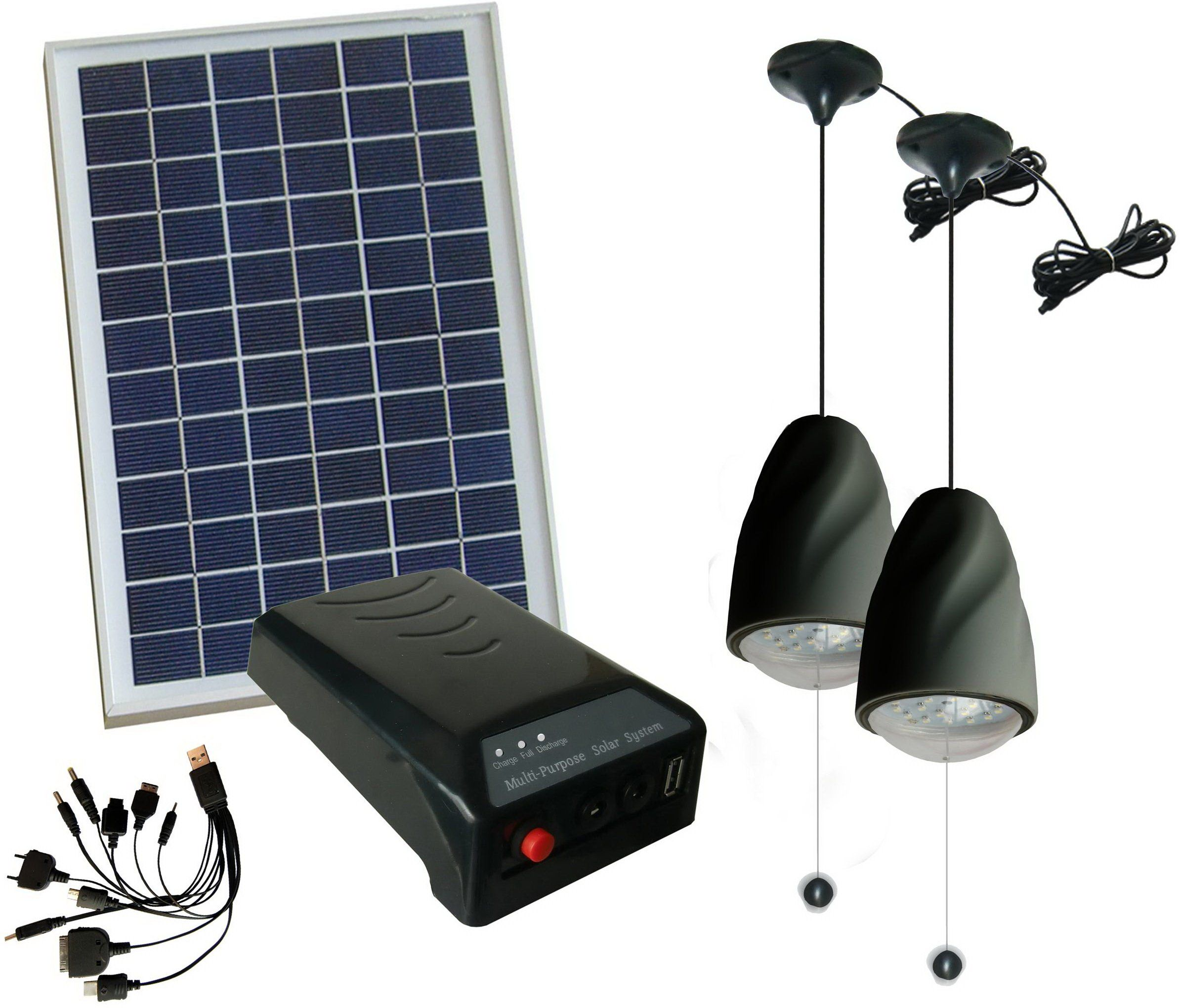 MicroSolar - Lithium Battery - 5W Panel Solar Home System Kit ...
