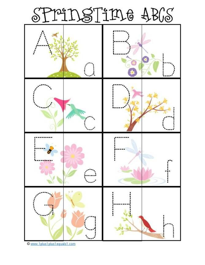 Spring ABC Matching Cards | Preschool Possibilities | Pinterest ...