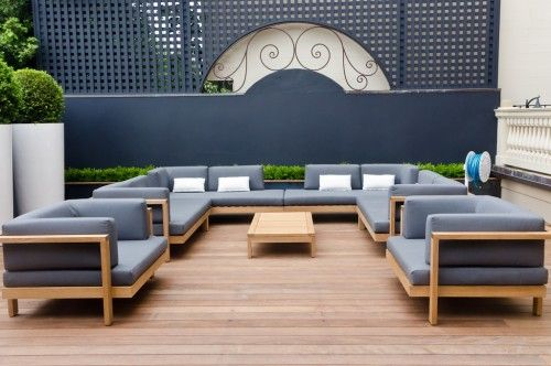 Ipe A Brazilian Wood Is Often Chosen For Its Strength Sustainability And Natural Resista Contemporary Patio Sleek Outdoor Furniture Rustic Outdoor Furniture