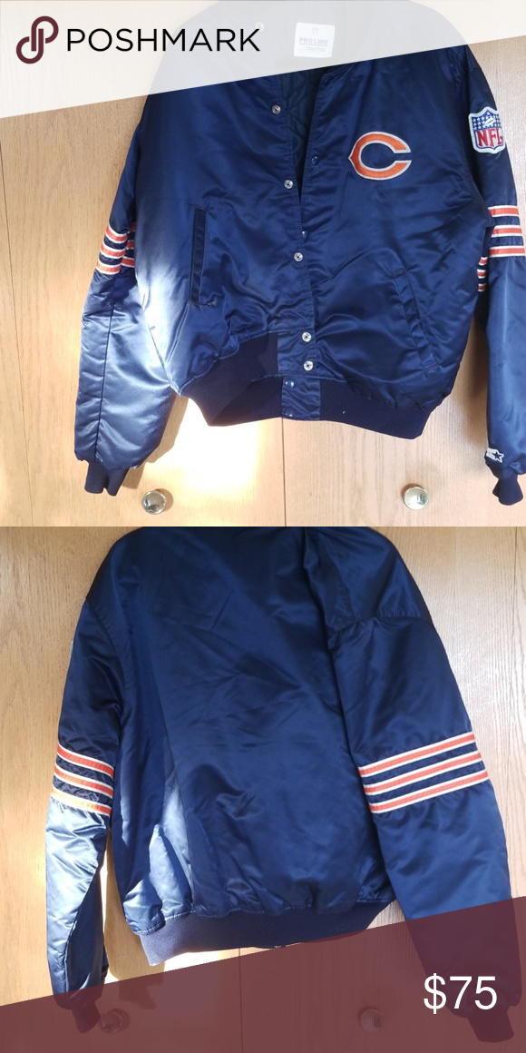 new style ec4ec 8f383 NFL starter jacket Authentic bears starter jacket. Almost ...