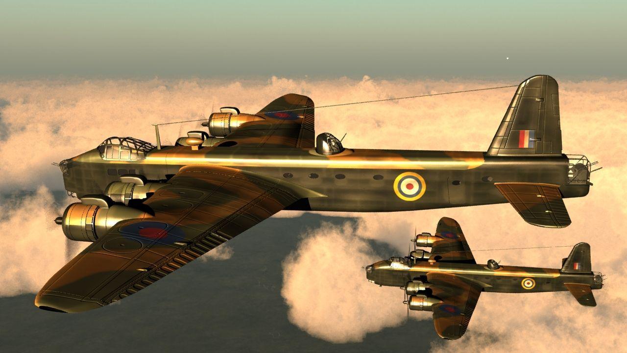 Photo Airborne Lancaster Bomber War Aeroplane Giant Wall Art Poster Print