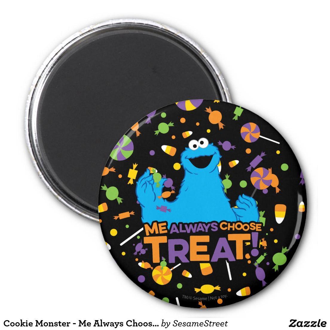 Cookie Monster - Me Always Choose Treat. Regalos, Gifts. #imanes #magnets