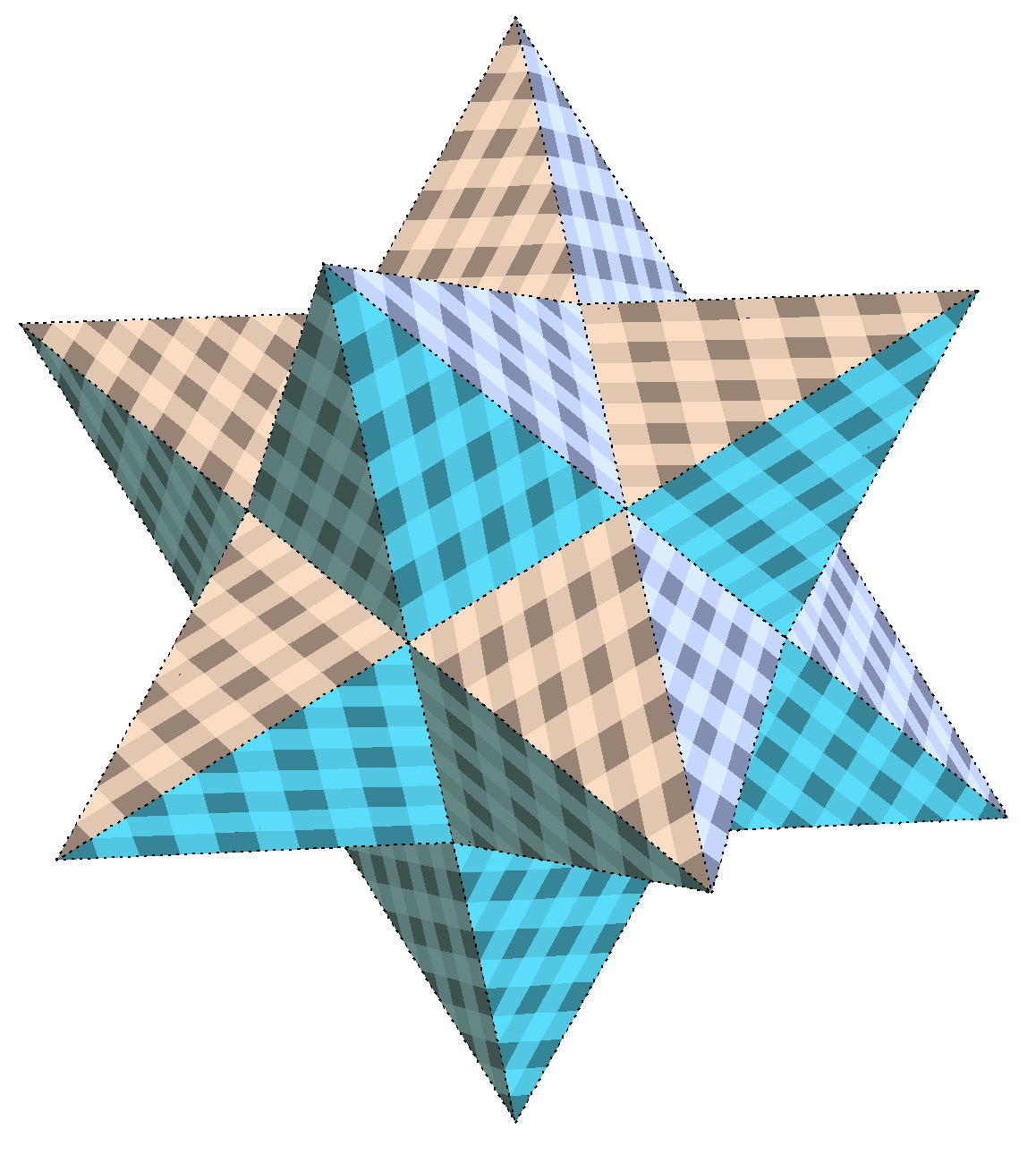 Patterned, Stellated dodecahedron