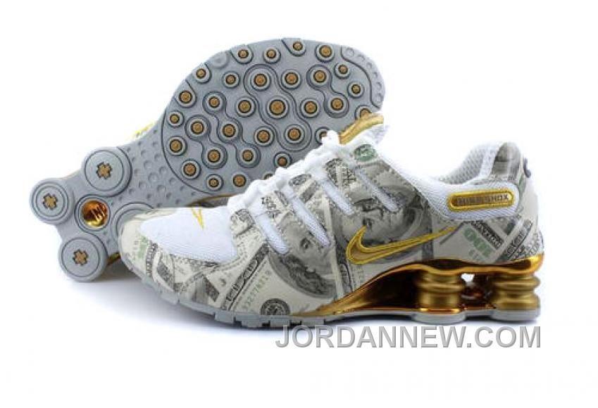 http://www.jordannew.com/mens-nike-shox-nz-shoes-white-gold-dollar-new-style.html MEN'S NIKE SHOX NZ SHOES WHITE/GOLD DOLLAR NEW STYLE Only $76.20 , Free Shipping!