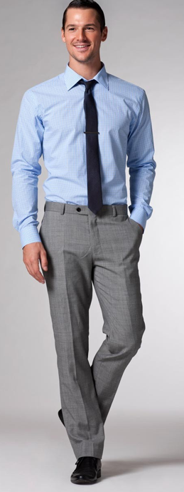 For The Groomsmen Light Blue Gingham Shirt Pictured With Gray Pants Dark Blue Tie And Black S Black Suit Blue Shirt Light Blue Shirts Light Blue Dress Shirt