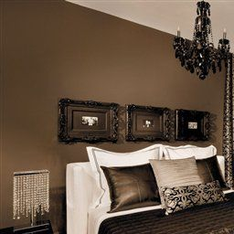 Brown Walls With Black Trim Home Bedroom Design Simple Bedroom Design