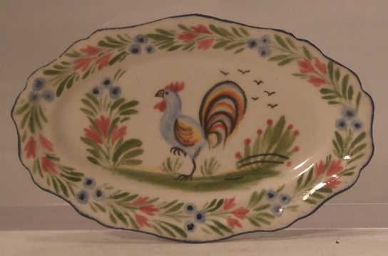 Oval Platter Rooster by Dominique Levy
