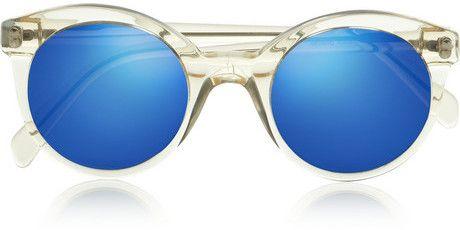Illesteva White Chapel Cat Eye Acetate Sunglasses Chic Only