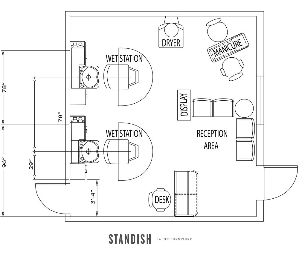 Beauty Salon Floor Plans Hair: Small Hair Salon, Beauty