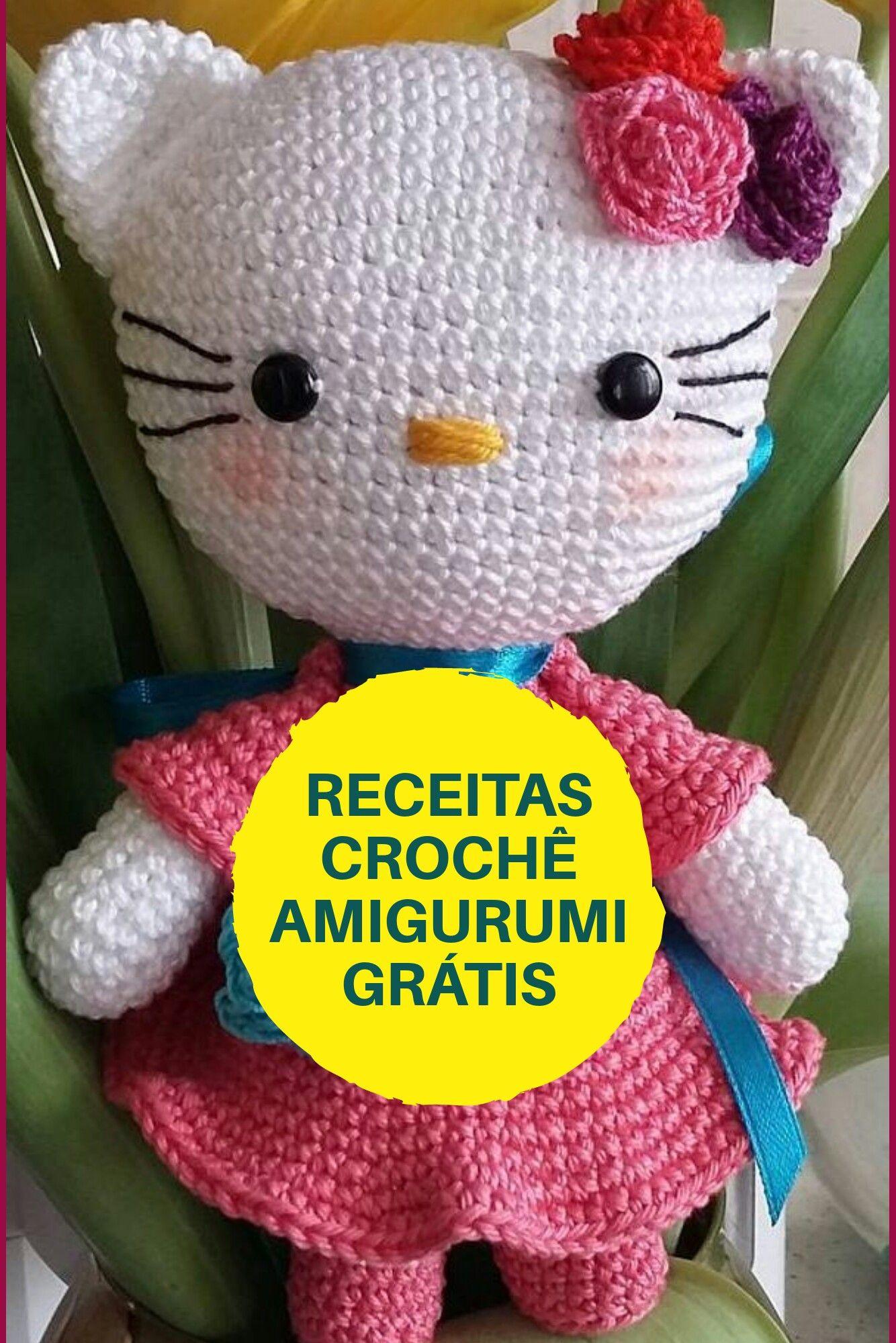 Hello kitty amigurumi crochet - YouTube | 2000x1334