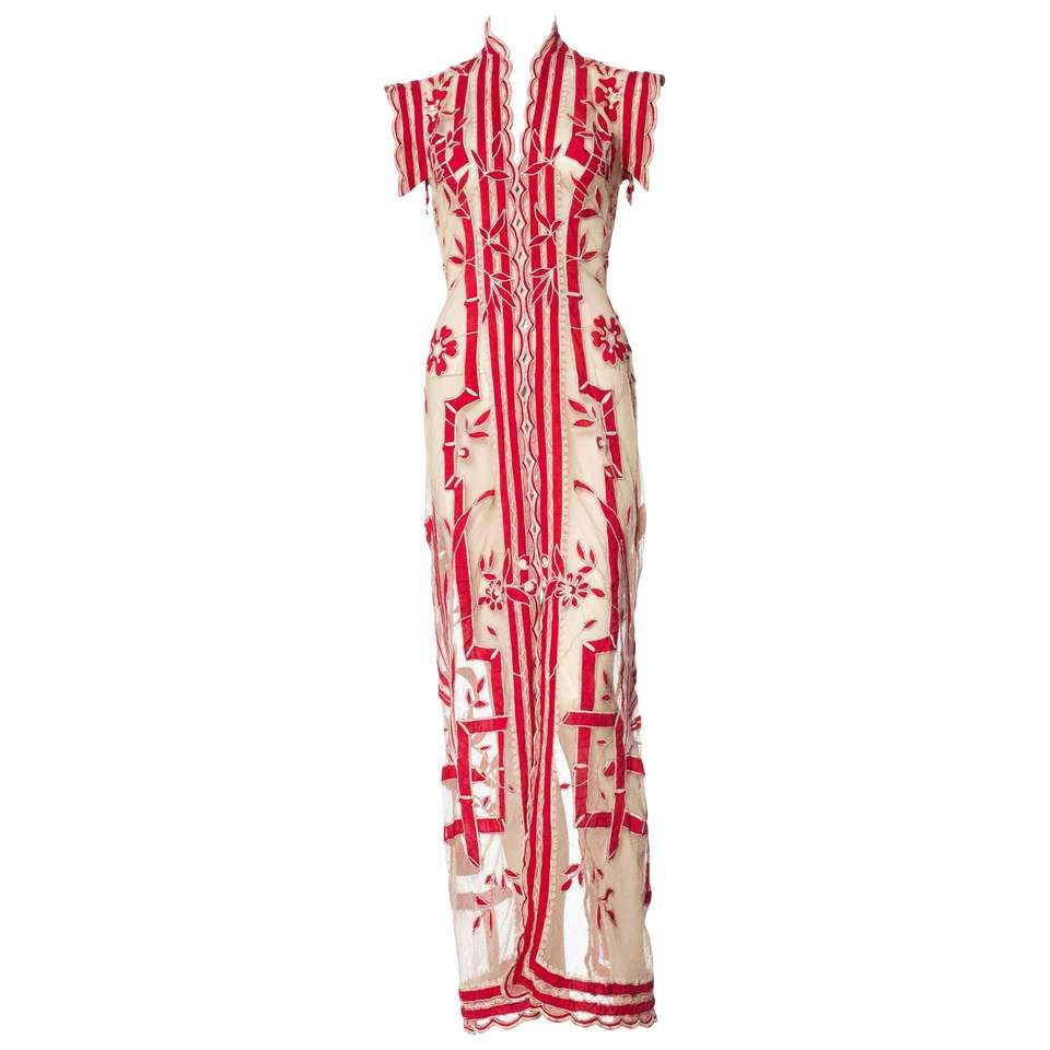 1eec17dfa34 Asian Inspired Victorian Lace Dress For Sale