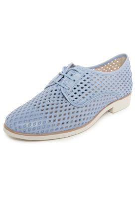 547447d1b4 Oxford Couro Bottero Furos Azul Sapatos Oxford