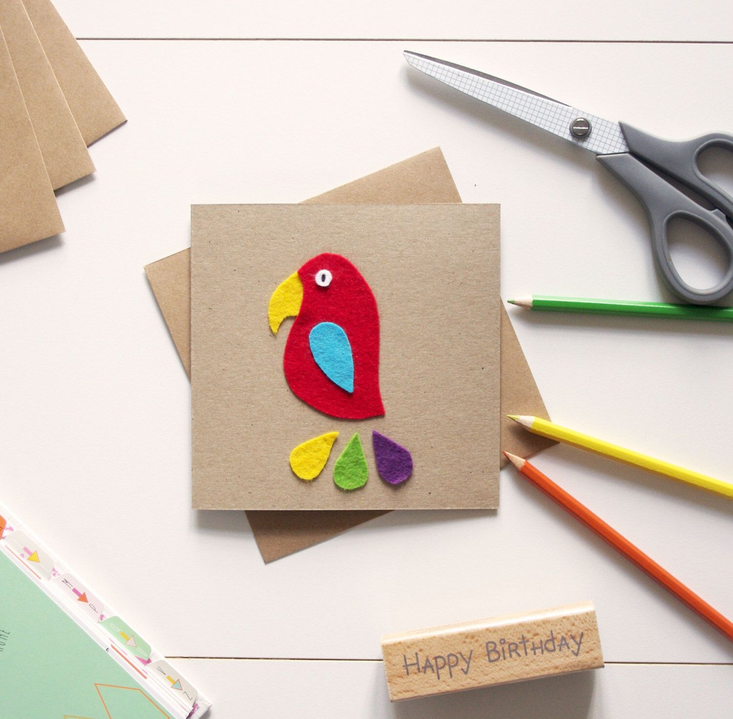Colourful parrot greeting card for kids or anyone really colourful parrot greeting card for kids or anyone really kristyandbryce Gallery