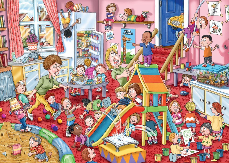 Kinderopvang   Puzzels   Pinterest   Art illustrations, Paintings ...