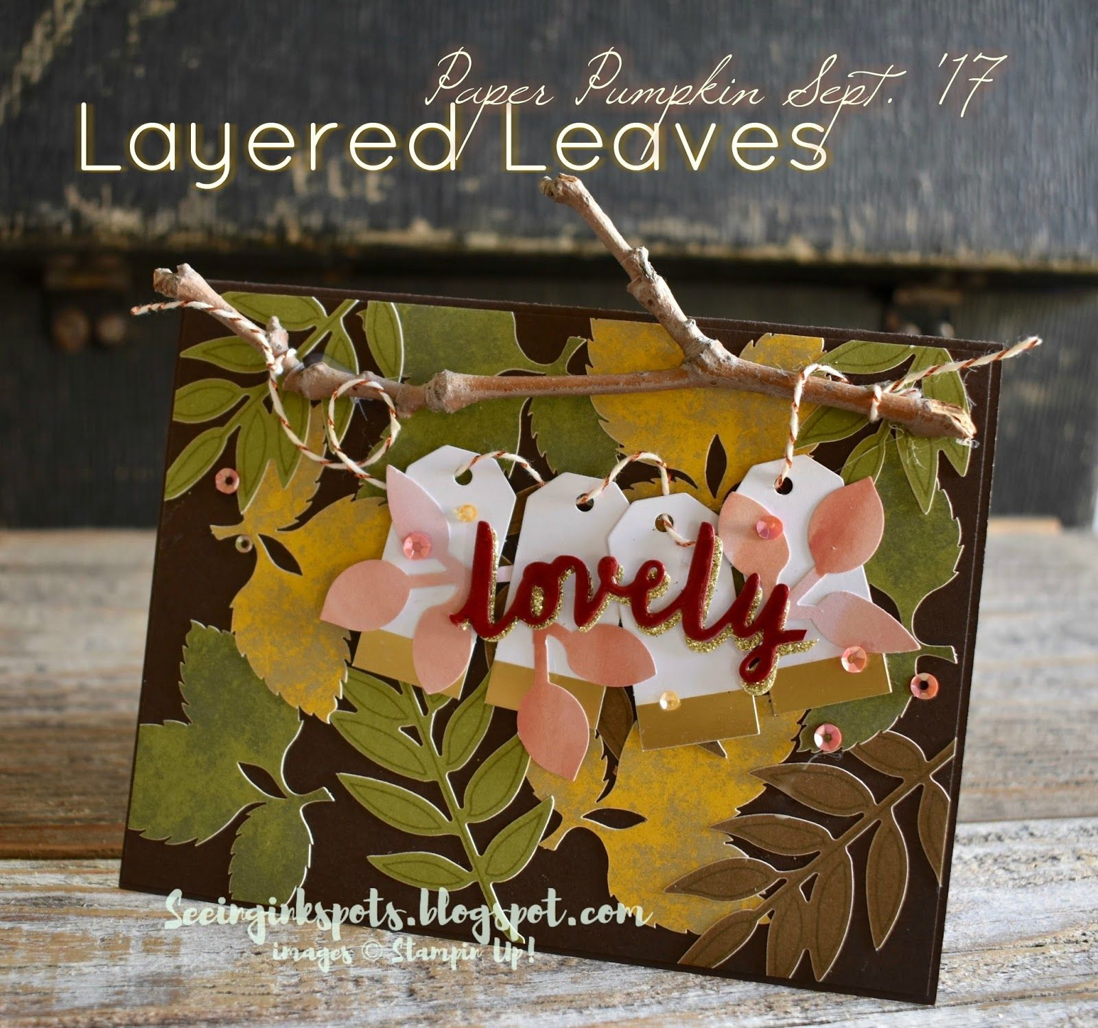 Layered Leaves Paper Pumpkin Alternative Leftovers Project From