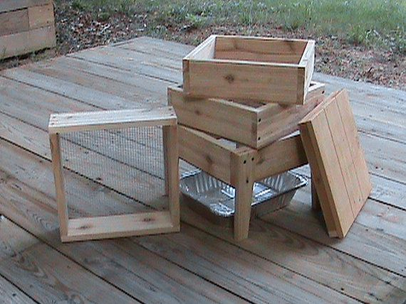 Homemade Wood Worm Bin Cedar 4 Tray This Is A Great Starter Worm