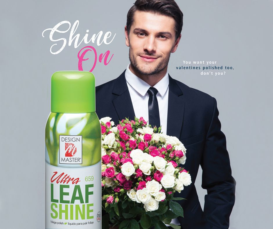 As a professional florist you're an agent of cupid this Valentine's Day! While cupid polishes his arrows be sure you put the polished touch on your creative designs with our Ultra Leaf Shine.  #ShineON  #UltraLeafShine #proflorist  #floriststools