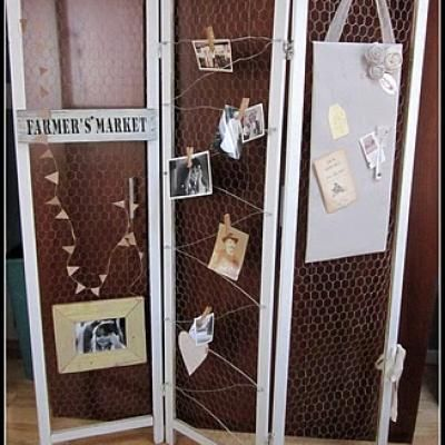 Repurposed Room Divider Screen Room Dividers Chicken Wire