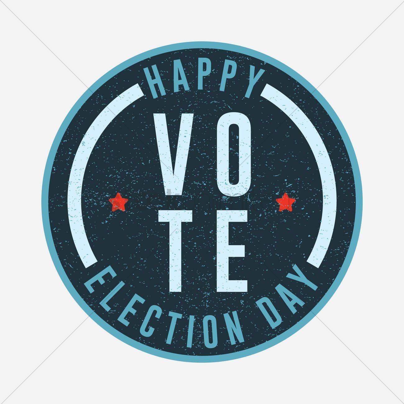 Election Vote Badge Vector Illustration Ad Vote Election Badge Illustration Vector Affiliate Merchandise Design Design Clip Art
