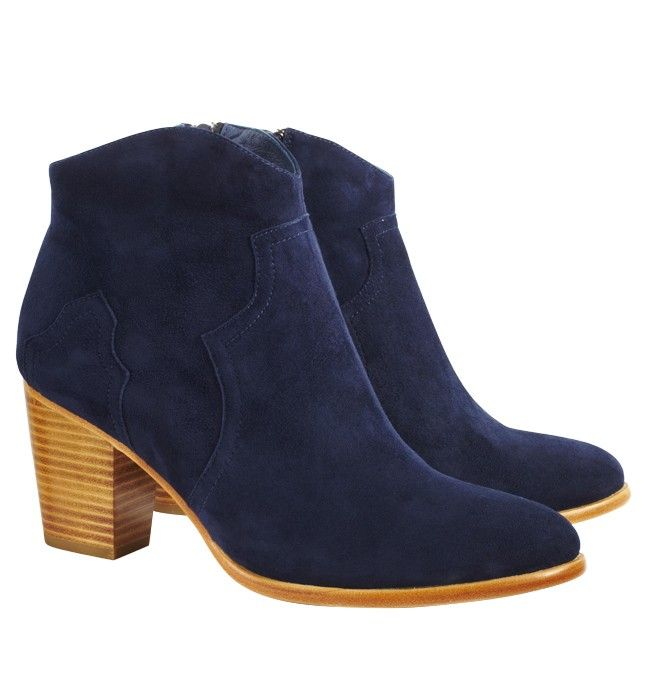 Kate Navy Suede boots