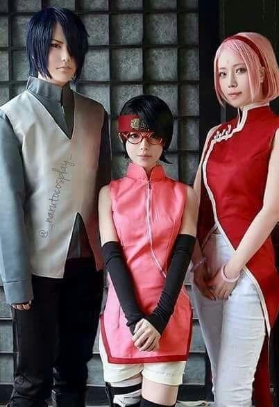 Family Cosplay Sasuke Sarada E Sakura Naruto Sasuke Cosplay