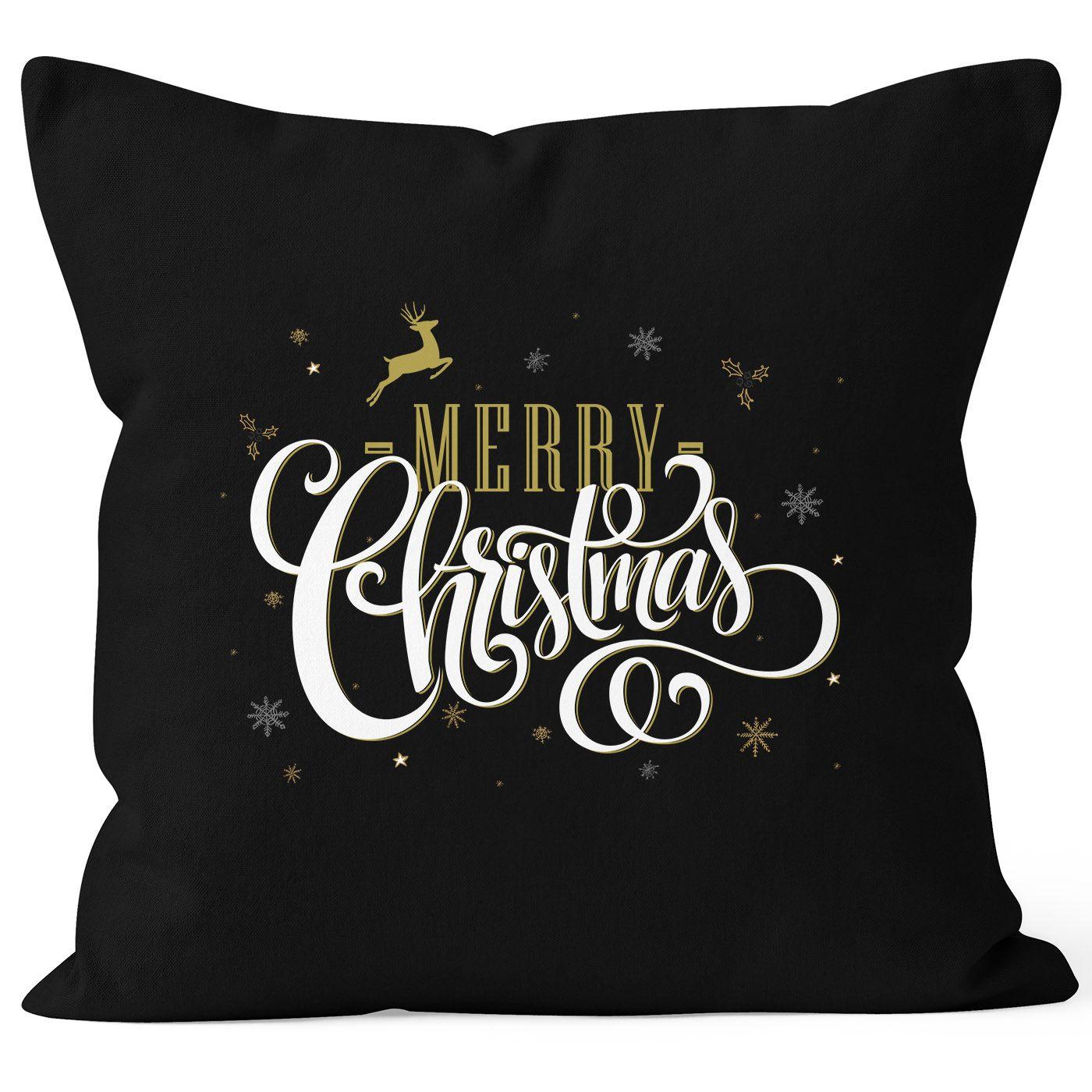 Kissenbezug Merry Christmas Weihnachten Geschenk Kissen