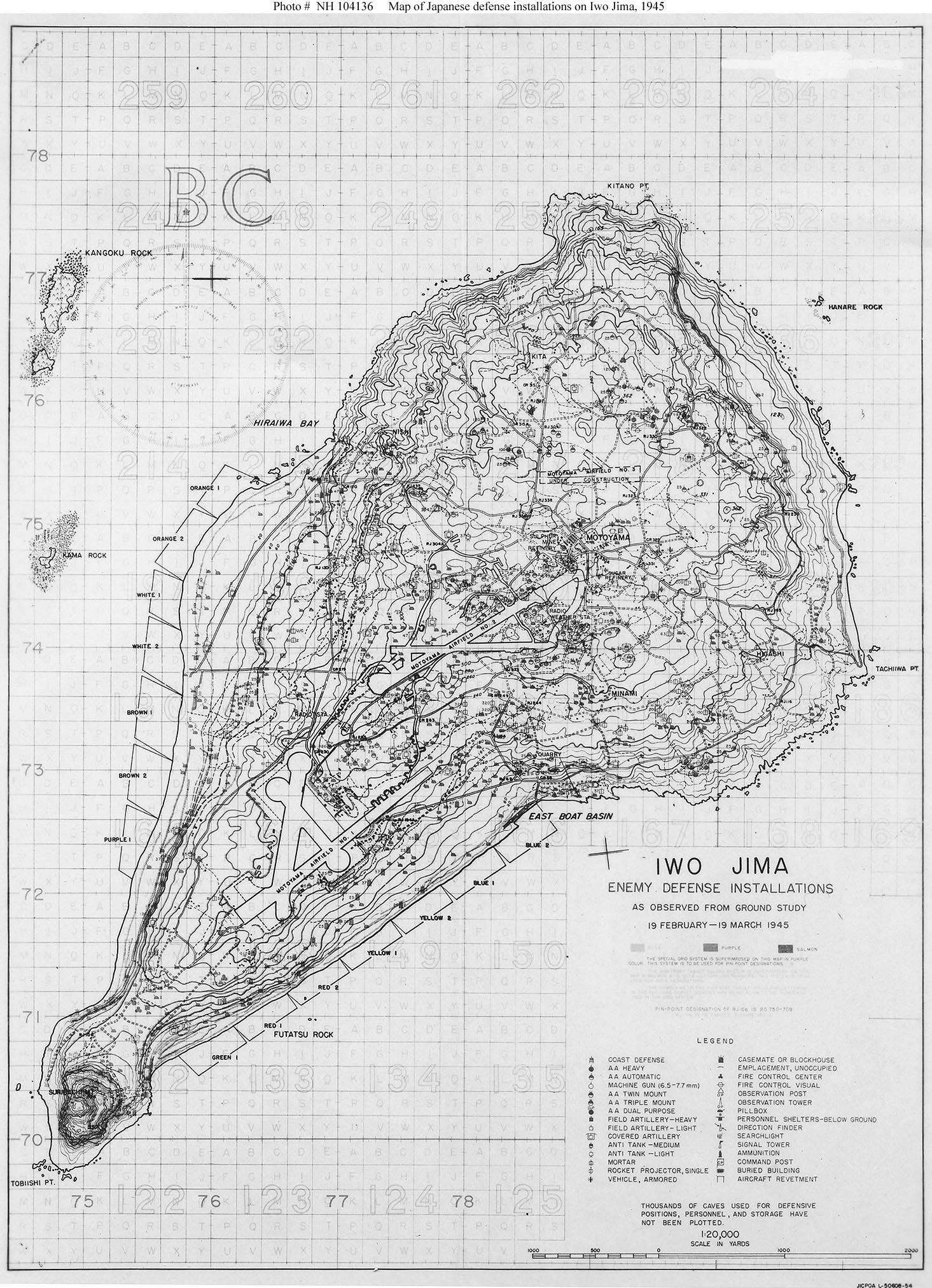 map of japanese defence installations at iwo jima ×  - map of japanese defence installations at iwo jima ×