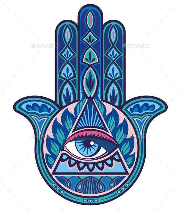 Image by Shutterstock Hamsa Hand In Watercolor Men/'s Tee