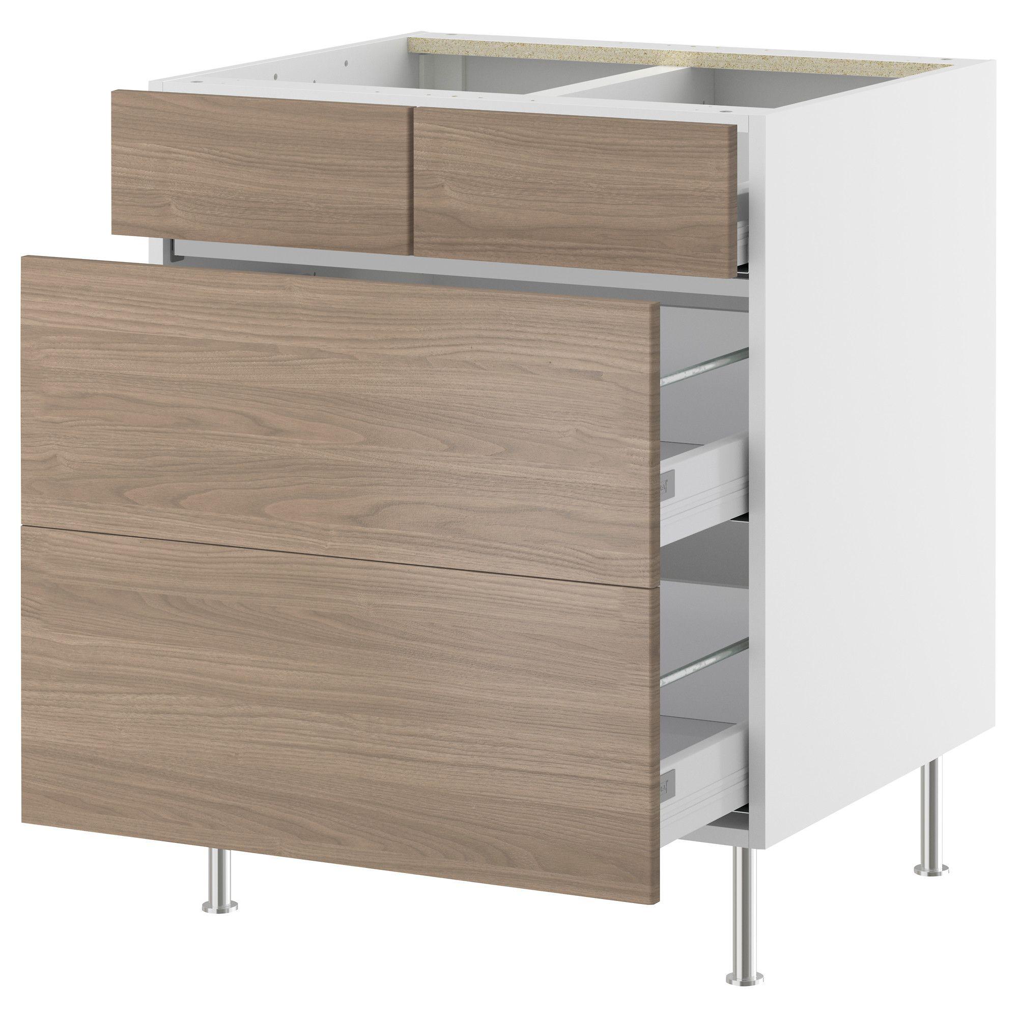 Interior Akurum Base Cabinet akurum base cabinet with 22 drawers birch effect sofielund walnut light