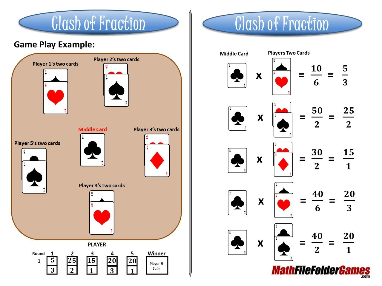 Clash Of Fraction Multiplying Fractions Game With Images