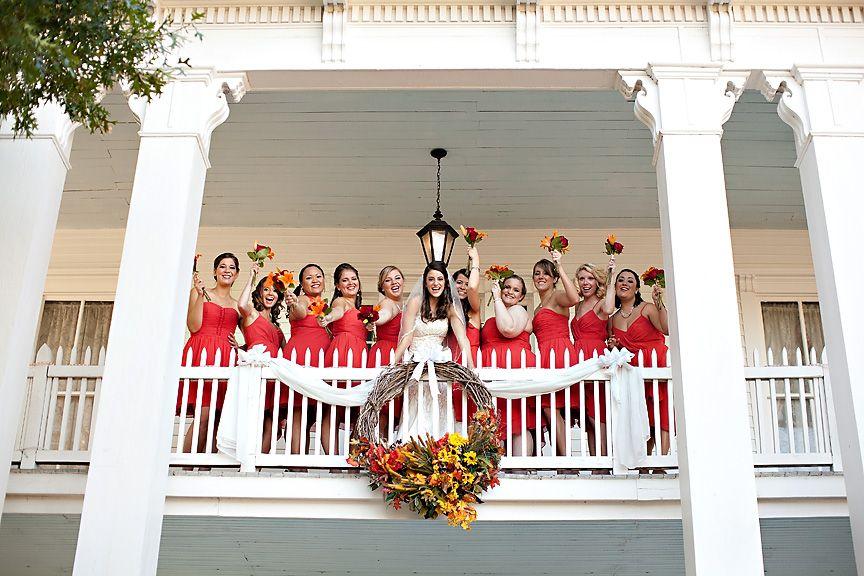 Bridesmaids Balcony Photo! - Fall Wedding
