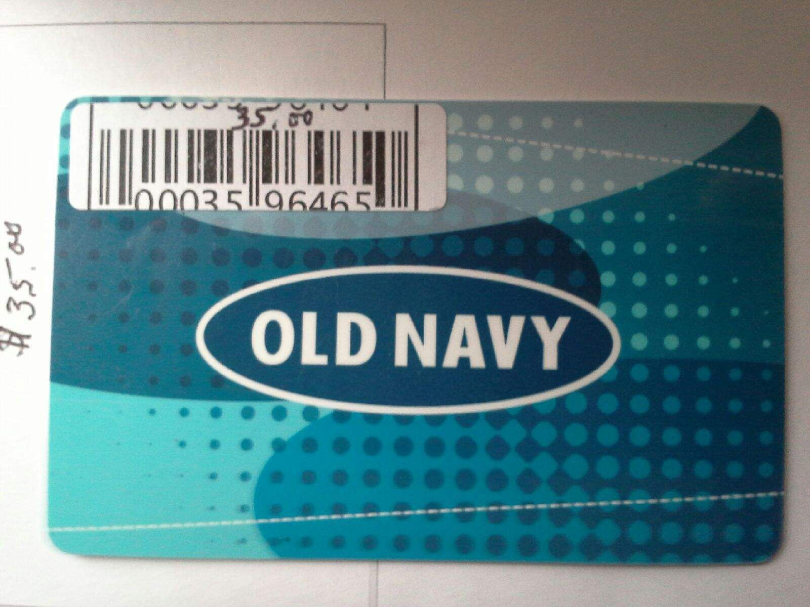 Coupons giftcards 3500 plasticphysical old navy gift