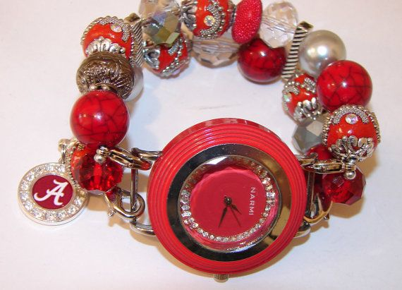 University of Alabama Beaded Watch Beaded by BeadsnTime on Etsy
