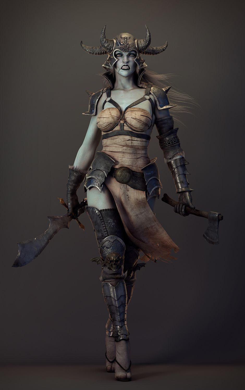 Character Design Zbrush Course : Demonic warrior by omar aweidah fantasy d cgsociety