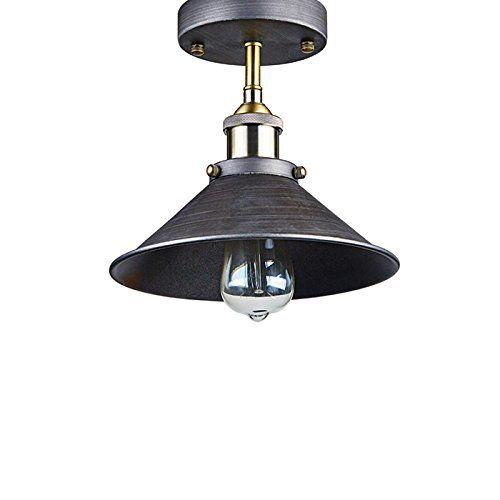 YOBO Lighting Industrial Edison Filament Vintage Semi Flush Mount 1