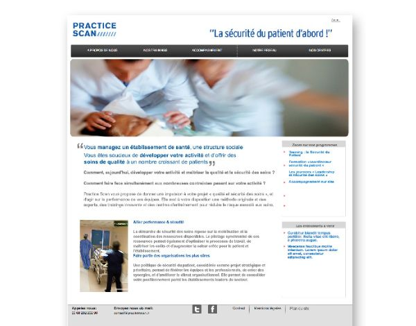 PracticeScan//  Conception et développement du site vitrine