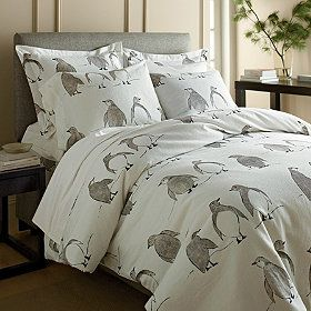 Festive And Playful This Penguin Parade Flannel Bedding