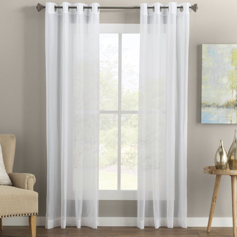Wayfair Basics Solid Sheer Grommet Single Curtain Panel Panel Curtains Curtains Grommet Curtains